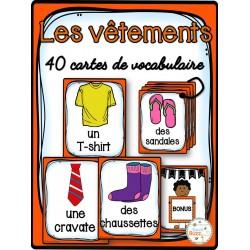 Les vêtements - Cartes de vocabulaire