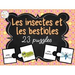 Insectes et bestioles - 25 puzzles (casse-tête)