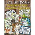 Les animaux - Ensemble mur de mots et lexique
