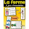 La ferme - Ensemble 2 jeux d'association