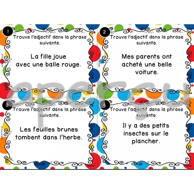 les adjectifs Wwwlaclassedemallorynet 1- classe les adjectifs dans le tableau national – agile – naturelle – valable – vraie – riche – froide – utile – joyeux.