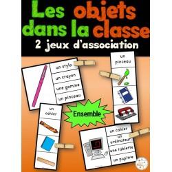 Objets dans la classe - 2 jeux d'association