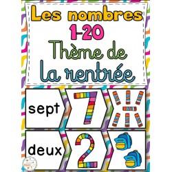 Nombres 1-20 - La rentrée - Puzzles