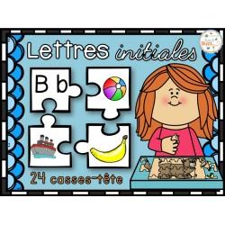Lettres initiales - 24 puzzles - casses-têtes
