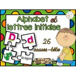 Lettres initiales et alphabet - casses-tête