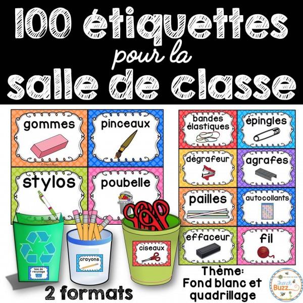 100 étiquettes pour la classe - Version 5