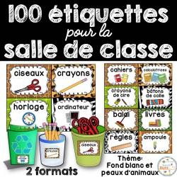 100 étiquettes pour la classe - Version 10