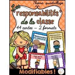 Responsabilités dans la classe - Quadrillage