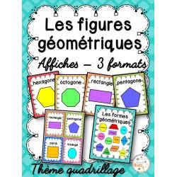 Les figures géométriques - Affiches - Quadrillage
