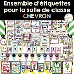 Ensemble d'étiquettes pour la classe - Chevron