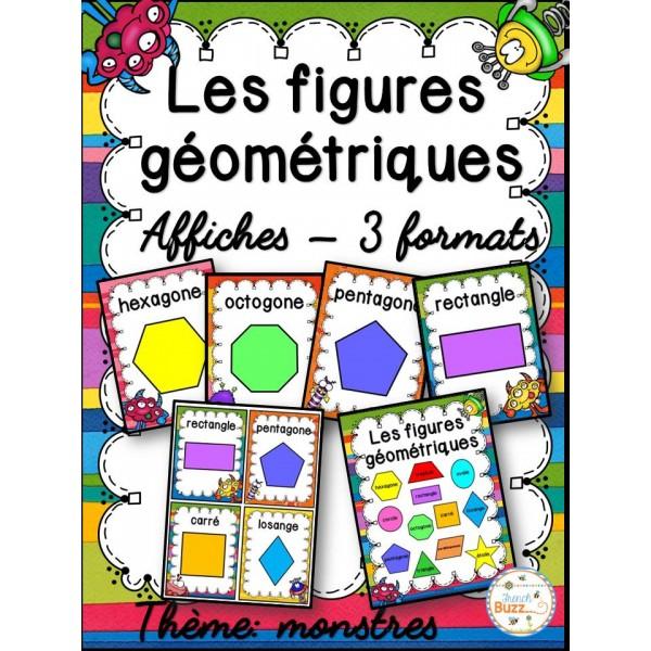 Les figures géométriques - Affiches - Monstres