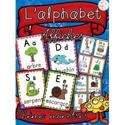 L'alphabet - Affiches - Thème: monstres