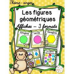 Les figures géométriques - Affiches - Singes