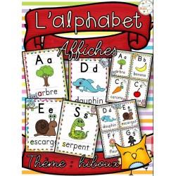 L'alphabet - Affiches - Thème: hiboux