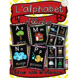 L'alphabet - Affiches - Thème: noir et chevron