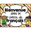 Bienvenue dans la classe de français - Affiche