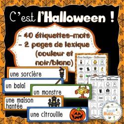 L'Halloween - mur de mots et lexique