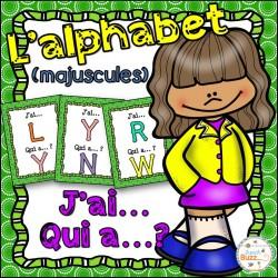 L'alphabet (majuscules) - jeu j'ai... qui a...?