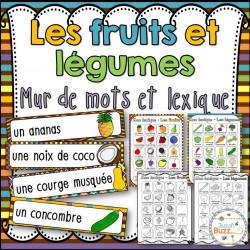 Fruits et légumes- Vocabulaire/lexique (52 mots)