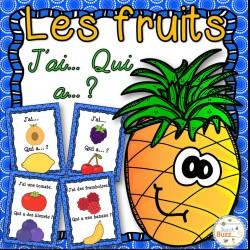 """Les fruits - Jeu """"j'ai qui a...?"""""""
