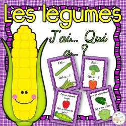 """Les légumes - Jeu """"j'ai qui a...?"""""""