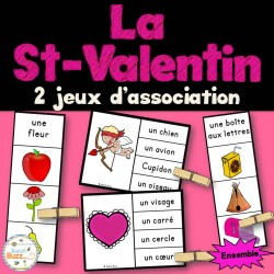 Saint-Valentin - Ensemble 2 jeux d'association