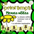 Le printemps - phrases mêlées
