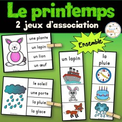 Le printemps - jeux d'association - ensemble