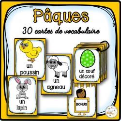 Pâques - Cartes de vocabulaire