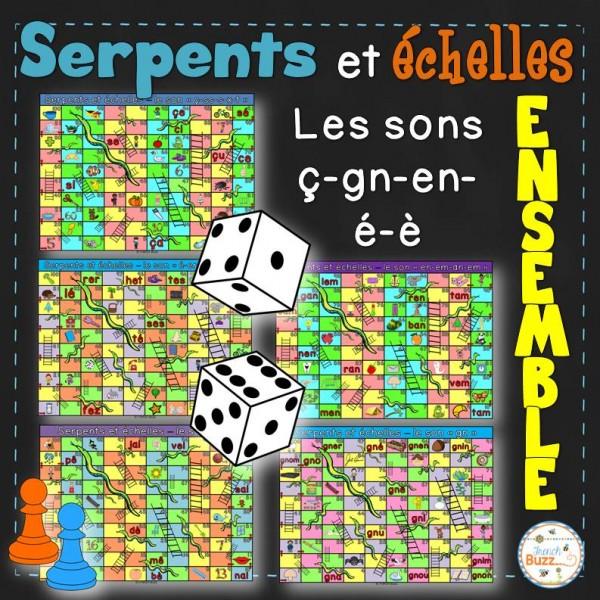 Les sons ç-é-è-en-gn - Serpents et échelles