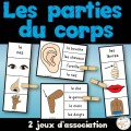 Parties du corps - 2 jeux d'association - Ensemble