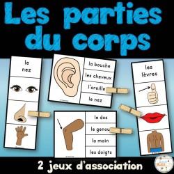 Parties du corps - 2 jeux d'association - Ensemble