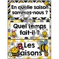 Les saisons et la météo - étiquettes - abeilles