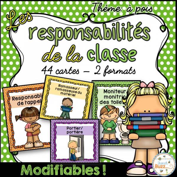 Responsabilités dans la classe - Thème: pois