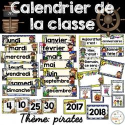 Calendrier de la classe - étiquettes - Pirates