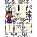 Ensemble d'étiquettes pour la classe - Pirates