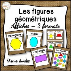 Les figures géométriques - Affiches -  Toile