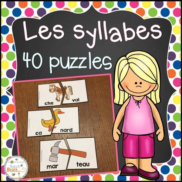 Les syllabes - 40 casses-tête de 2 syllabes