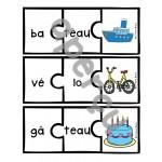Les syllabes - 60 puzzles