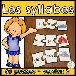 Les syllabes - 60 puzzles de 2 syllabes - (#2)