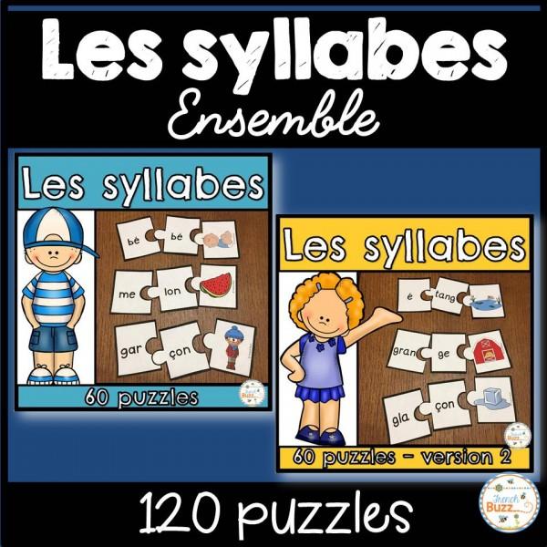 Les syllabes - Ensemble - 120 puzzles