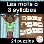 Les syllabes - 24 puzzles de 3 syllabes