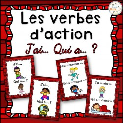 """Les verbes d'action - Jeu """"j'ai, qui a"""""""