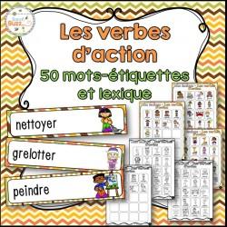 Les verbes d'action - vocabulaire et lexique