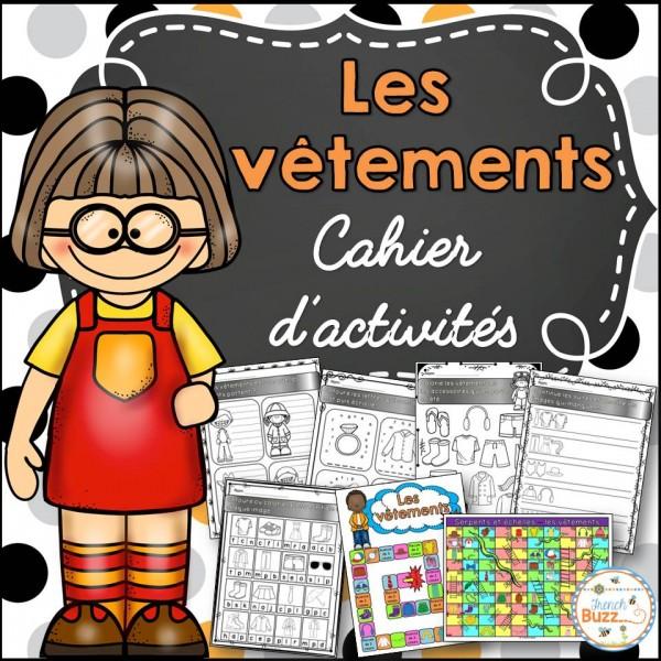 Les vêtements - cahier d'activités des élèves