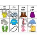 Les vêtements - 2 jeux d'association