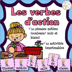 Les verbes d'action - Phrases mêlées