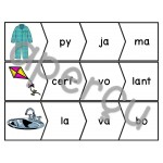 Les syllabes - Ensemble de jeux