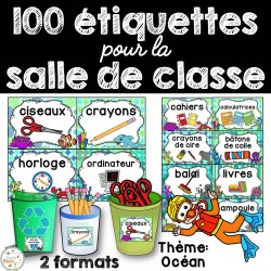 100 étiquettes pour la classe - Océan
