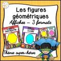 Les figures géométriques - Affiches - Super-héros